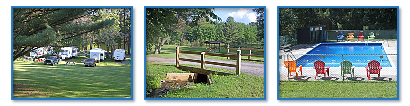 A wide range of campsites and amenities at Cooperstown Family Campground.