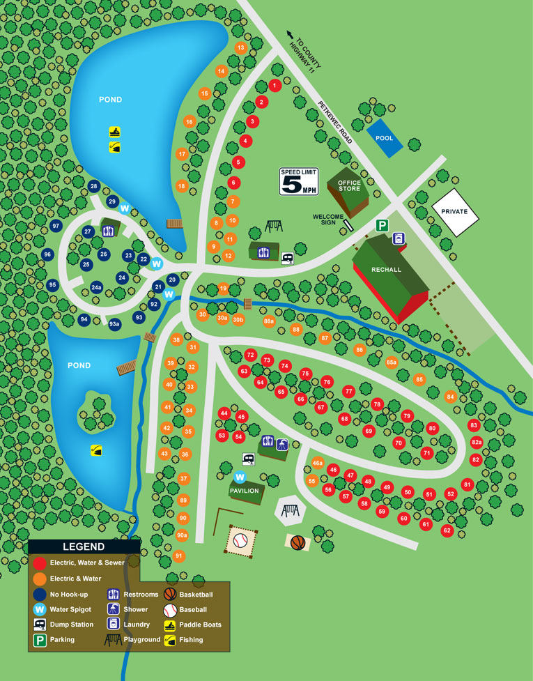 Site Map Cooperstown Family Campground